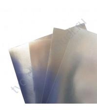 Картон дизайнерский односторонний металлизированный Sadipal 225 гр, формат 20х30 см, цвет серебро