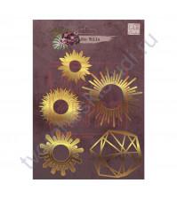 Набор декора из пластика Созерцание, коллекция die Villa, толщина 2 мм, 5 элементов, цвет золото