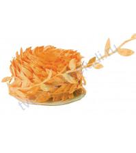 Лента оранжевая с листочками, ширина ок. 23 мм