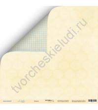 Бумага для скрапбукинга двусторонняя 30.5х30.5 см, 190 гр/м, коллекция Little Bear, лист Дамаск
