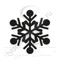 ФП печать (штамп) Снежинка-4, 2х2 см
