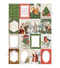 Набор карточек Новогодний лес, плотность 190 гр/м, 16 односторонних карточек