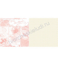Бумага для скрапбукинга двусторонняя, коллекция Growing Up Girl, 30х30 см 180 гр/м, лист See the World