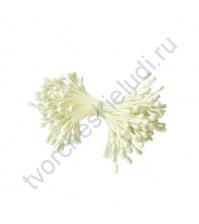 Тычинки двусторонние 3 мм, 85 шт, цвет белый