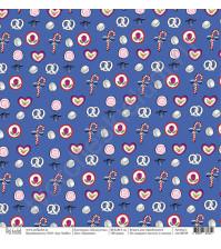 Бумага для скрапбукинга односторонняя коллекция Щелкунчик, 30.5х30.5 см, 190 гр/м, лист Пряники
