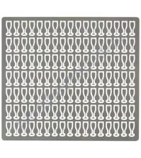 Набор металлического декора для шейкера Glass, 2.5х6.5 мм, 119 шт