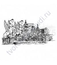 ФП штамп (печать) Банковский мост, 7.5х3.6 см