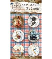 Набор фишек (топс) из металла Sherlock Holmes, 6 штук