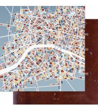 Бумага для скрапбукинга двусторонняя, коллекция GOрод GOворит, 30.5х30.5 см плотность 190г/м, лист В режиме с пробками