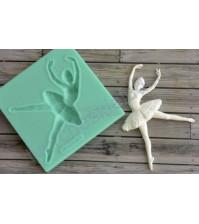 Форма силиконовая (молд) для полимерной глины, Балерина-3