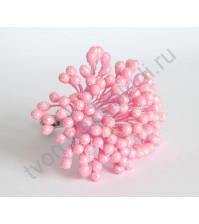 Тычинки Макси с глиттером, 7х10мм, 5 шт., цвет розовый