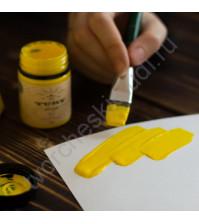 Краска акриловая Tury Design Di-7 на водной основе, флакон 60 гр, цвет Желтый