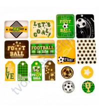 Набор карточек и высечек для журналинга с фольгированием, коллекция Путь чемпиона, плотность 190 гр/м, 16 элементов