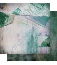 Бумага для скрапбукинга двусторонняя, коллекция Фрагменты, 30.3х30.3 см, 200 гр/м, лист 001