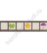 Бумажный скотч с принтом Фотопленка, коллекция День за днем, 15 ммх8м