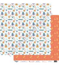 Бумага для скрапбукинга двусторонняя 30.5х30.5 см, 190 гр/м2, коллекция Жили-были, лист По щучьему велению