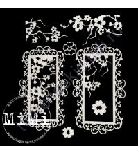 Набор чипборда Ветви сакуры, коллекция Сакура, размер 10х15см