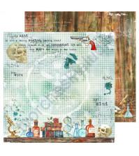 Бумага для скрапбукинга односторонняя Sherlock Holmes, 30.48х30.48 см, 190 гр/м, лист 4