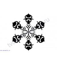 ФП штамп (печать) Снежинка-9, 4х4 см