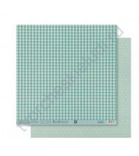 Бумага для скрапбукинга двусторонняя Базовая 30.5х30.5 см, 180 гр/м2, лист Мятный