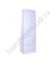Пакет из крафт-бумаги, плотность 66 гр/м2, размер 8х5х17 см, цвет белый