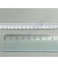 Тесьма вязаная (кружево) хлопок дизайн-25, шир. 15 мм, цвет белый, 1 метр