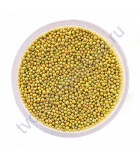 Декоративный топинг (микробисер), размер 0.6-0.8 мм, цвет желтое золото