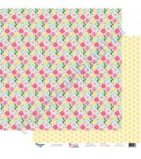 Бумага для скрапбукинга двусторонняя 30.5х30.5 см, 190 гр/м2, коллекция Красна девица, лист Лето за окном