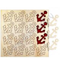 Набор деревянного декора Якорь, 25 мм, 16 шт