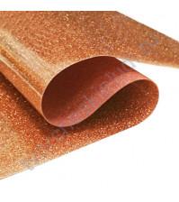 Термотрансферная пленка глиттер, цвет медь, 25х25 см (+/- 2 см)