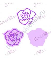 Набор ножей для вырубки Rose (Роза), 2 элемента