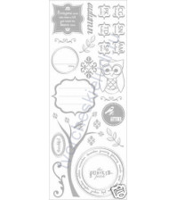 Набор натирок Vintage Moon, размер листа 12х30 см, цвет серебро