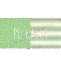 Бумага для скрапбукинга двусторонняя коллекция Лето на даче, 30.5х30.5 см, 190 гр/м, лист Укроп