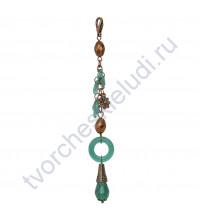 Кисточка-брелок для корешка Изумруд, длина 13 см, 1 шт