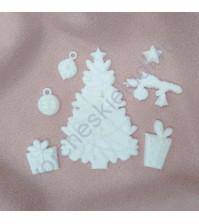 Набор пластиковых фигурок Новогодние подарки, 7 элементов