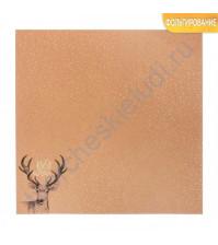 Бумага односторонняя крафтовая с фольгированием 30.5х30.5 см, 180 гр/м2, лист Best Wishes