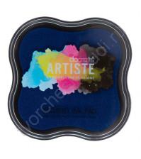 Штемпельная пигментная подушечка Pigment Ink pad Metallic, 7х7 см, цвет синий