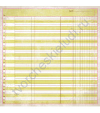Бумага для скрапбукинга односторонняя коллекция Lively, 30.5х30.5 см, 220 гр/м, лист Vivacious