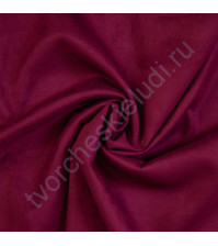 Искусственная замша Suede, плотность 230 г/м2, размер 50х70см (+/- 2см), цвет маджента