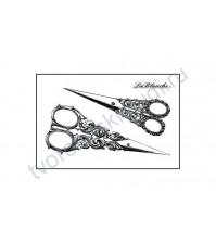 Штамп полимерный 2 Scissors, 3.5х6 см