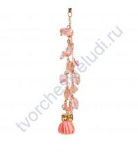 Кисточка-брелок для корешка Персик, длина 13 см, 1 шт