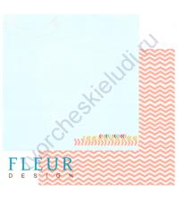 Лист бумаги для скрапбукинга Простор ,коллекция Следуй за мечтой,30 на 30, плотность 190 гр