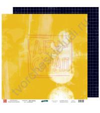 Бумага для скрапбукинга двусторонняя, 30.5х30.5 см, плотность 190 гр/м2, коллекция Вне рамок, лист В моменте