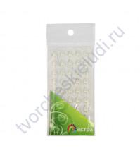 Полужемчужинки клеевые Капли 6х10 мм, 45 шт, цвет молочный