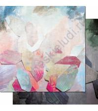 Бумага для скрапбукинга двусторонняя, коллекция Фрагменты, 30.3х30.3 см, 200 гр/м, лист 006