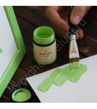 Краска акриловая Tury Design Di-7 на водной основе, флакон 60 гр, цвет Зеленый светлый
