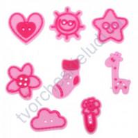 Набор декоративных резиновых пуговок Любимая доченька, 8 штук