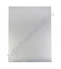 Картон дизайнерский односторонний металлизированный Sadipal 225 гр, формат 20х30 см, цвет матовое серебро