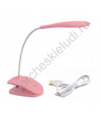 Светильник светодиодный на прищепке, цвет розовый
