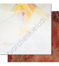 Бумага для скрапбукинга двусторонняя, коллекция Фрагменты, 30.3х30.3 см, 200 гр/м, лист 004